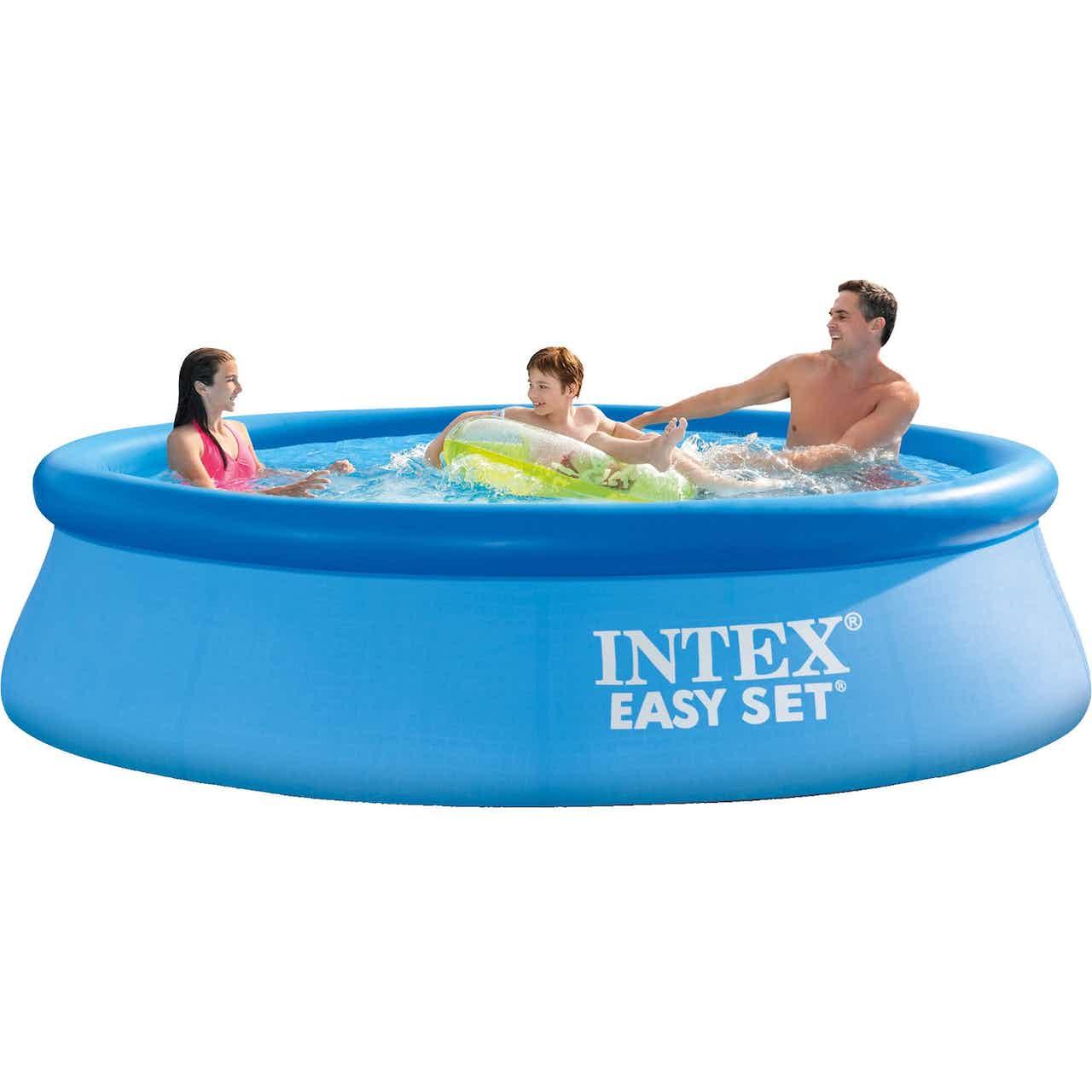 Intex Easy Set Pool PVC Blau, Rund, Ø 305 x 76 cm