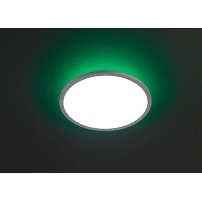 Wofi LED-Deckenleuchte Linox RGBW Ø 40 cm EEK: A