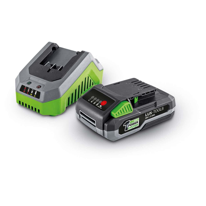 LUX 20 V Li-Ion Akku mit Schnellladegerät 1 PowerSystem 2 Ah