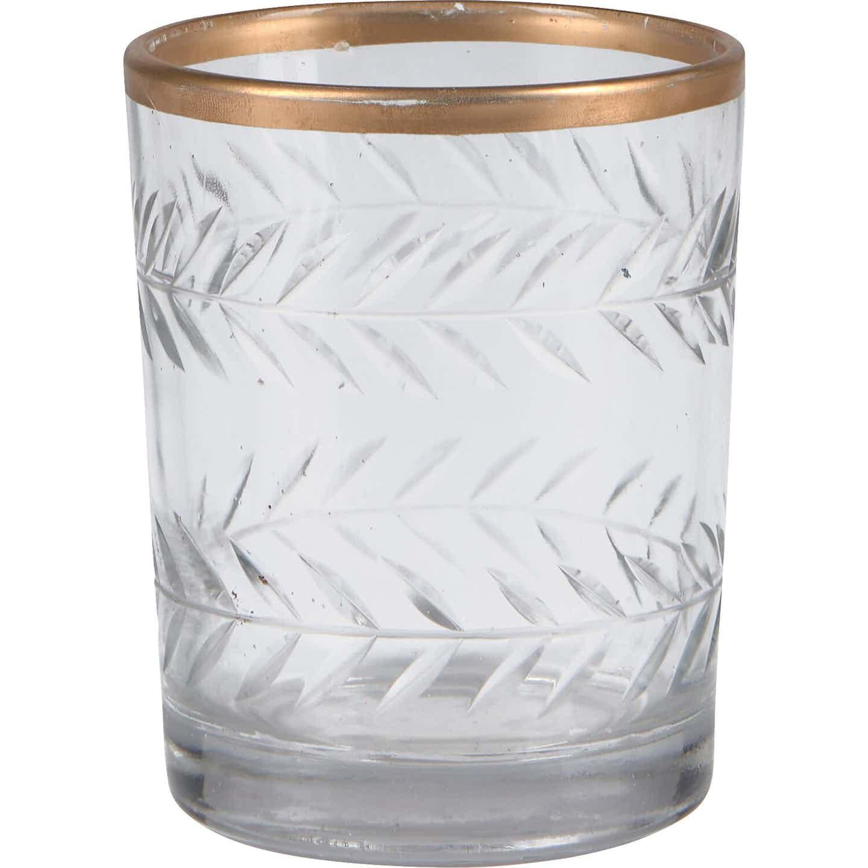 Teelichthalter Desert Flower Glas 9,5 cm x Ø 7,6 cm Klar