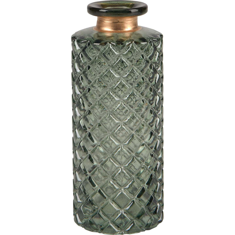 Deko-Flasche Safari Lodge Glas 5,5 cm x 13 cm Oliv