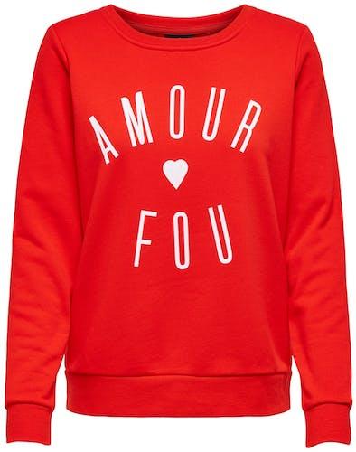 rotes Sweatshirt von Only
