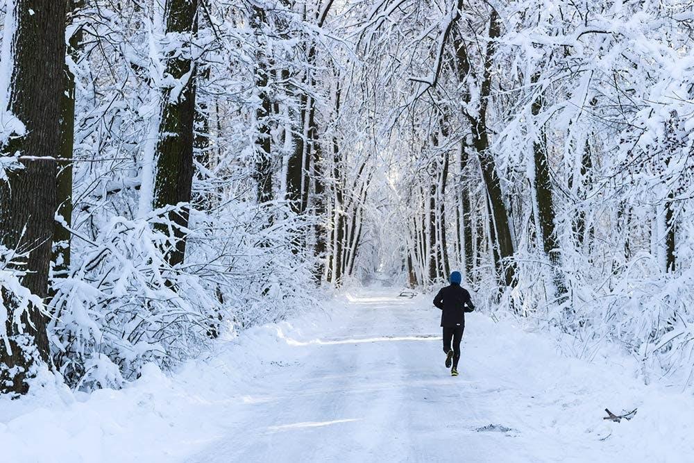 Laufen auf Schnee und Eis