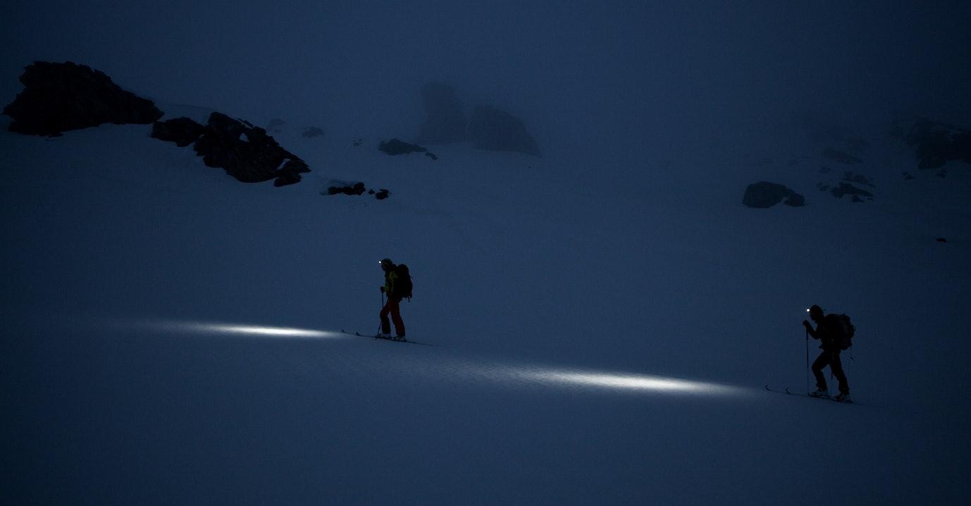 Stirnlampe Skitouren  © Foto Tony Lamiche - Petzl
