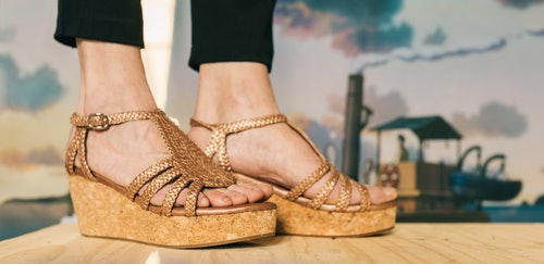 metaliczne sandały Melvin & Hamilton