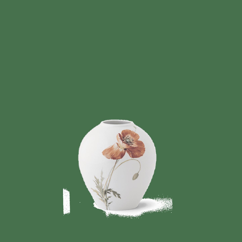 Vase, EIFORM 0, Mohnmalerei