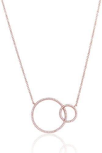 Ce Collier ARBELO est en Argent 925/1000 Rose et Oxyde Blanc