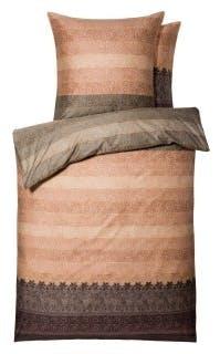 """Bettwäsche-Garnitur """"Appiani"""" in der Farbe Rosa/Braun"""
