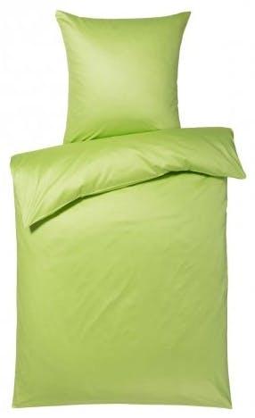 """Bettwäsche-Garnitur """"Colours"""" in der Farbe Apfelgrün"""