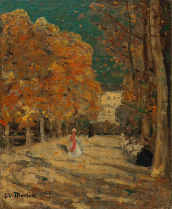 "James Wilson Morrice ""Jardin du Luxembourg, Paris"" um 1905 Öl auf Leinwand 73 × 60,5 cm Schenkung A. K. Prakash, Sammlung J. W. Morrice, 2015  National Gallery of Canada, Ottawa Foto : NGC"