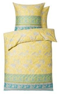 """Bettwäsche-Garnitur """"Jasmine"""" in der Farbe Gelb/Grün"""