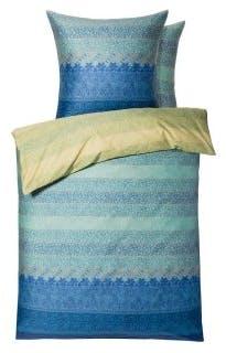 """Bettwäsche-Garnitur """"Appiani"""" in der Farbe Grün/Blau"""