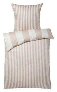 """Bettwäsche-Garnitur """"Stripe"""" in der Farbe Beige"""
