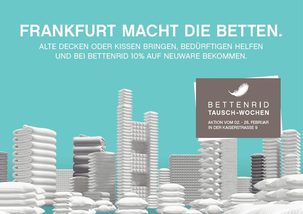 Frankfurt macht die Betten