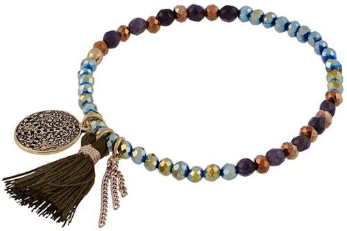 Ce Bracelet INDIAN SUMMER est en Métal Doré