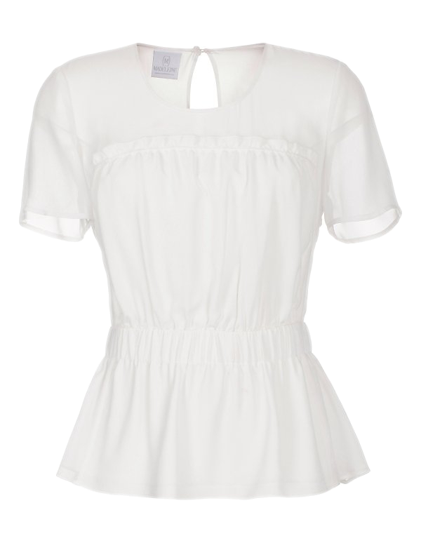 Halbarm-Bluse aus Seide