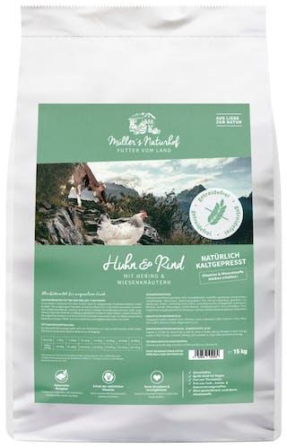Müller's Naturhof Getreidefrei Huhn und Rind Trockenfutter 15 kg