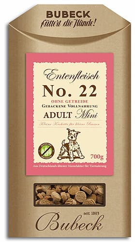 Bubeck Mini No. 22 Adult Mini Entenfleisch Trockenfutter 700 g