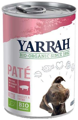 Yarrah Paté mit Schwein, Petersilie & Thymian Nassfutter 12 x 400 g