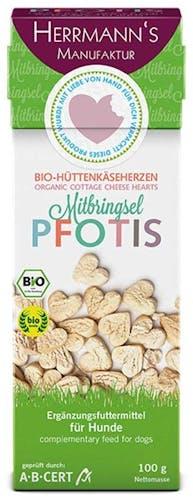 Herrmanns Pfotis Bio-Hüttenkäseherzen Snack 100 g