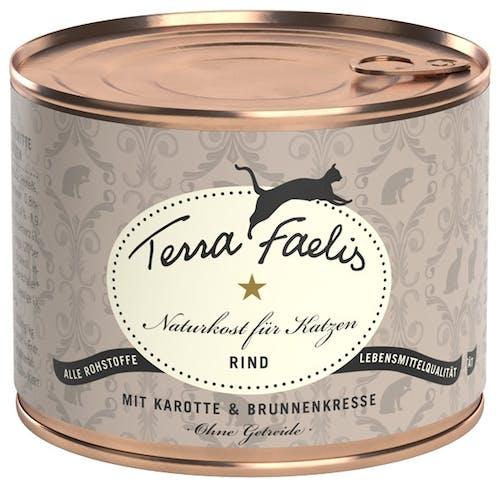 Terra Faelis Classic Rind mit Karotte und Brunnenkresse Nassfutter 6 x 400 g