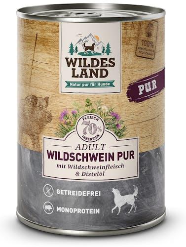Wildes Land Pur Wildschwein mit Distelöl Nassfutter 400 g