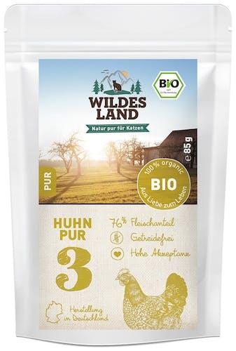 Wildes Land BIO Adult Huhn Pur Nassfutter 12 x 85 g