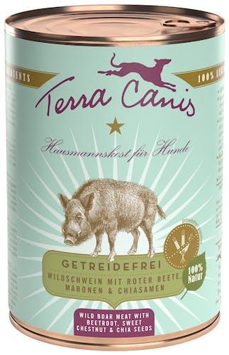 Terra Canis Getreidefrei Wildschwein mit Roter Beete, Maronen & Chiasamen Nassfutter 400 g