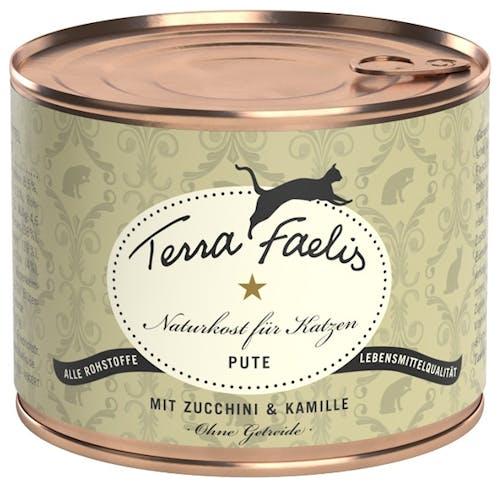 Terra Faelis Classic Pute mit Zucchini und Kamille Nassfutter 200 g