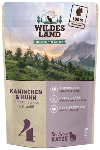 Wildes Land Classic Adult Kaninchen und Huhn mit Distelöl Nassfutter 12 x 100 g