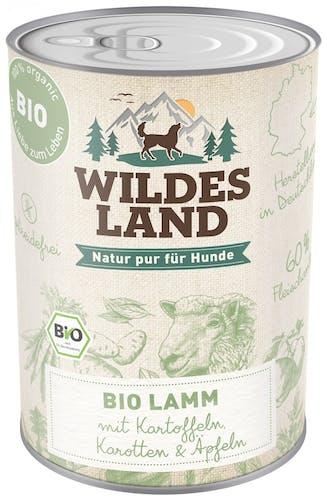 Wildes Land BIO Adult Lamm mit Kartoffeln Nassfutter 6 x 400 g
