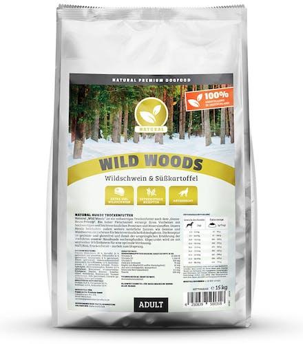 Natural Wild Woods mit Wildschwein Trockenfutter 15 kg