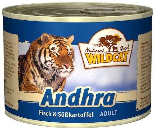 Wildcat Andhra mit Fisch und Süßkartoffel Nassfutter 6 x 200 g