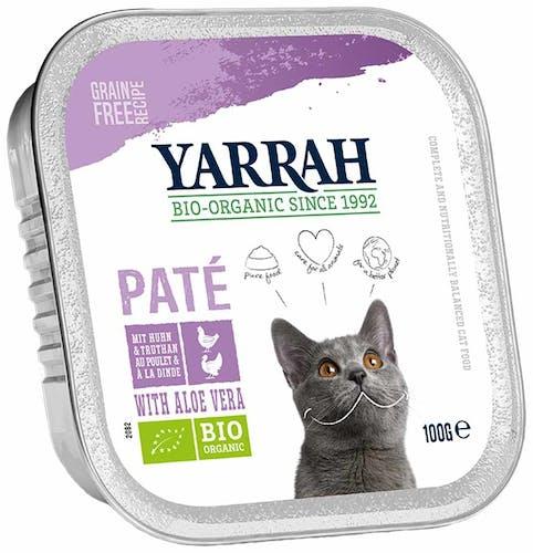 Yarrah Paté mit Huhn, Truthahn & Aloe Vera Nassfutter 8 x 100 g