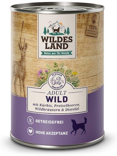 Wildes Land Classic Adult Wild mit Kürbis, Preiselbeeren, Wildkräutern und Distelöl Nassfutter 6 x 400 g