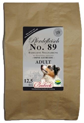 Bubeck Trockenfutter/gebackenes Hundefutter No. 89 Adult Pferdefleisch Trockenfutter 12,5 kg