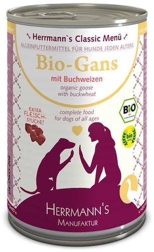 Herrmanns Classic Bio-Gans mit Buchweizen Nassfutter 6 x 400 g