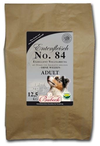 Bubeck Trockenfutter/gebackenes Hundefutter No. 84 Adult Entenfleisch Trockenfutter 12,5 kg