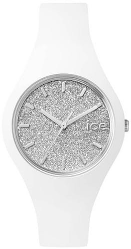 Cette montre ICE-WATCH se compose d'un boîtier Rond de 38 mm et d'un bracelet en Silicone Blanc