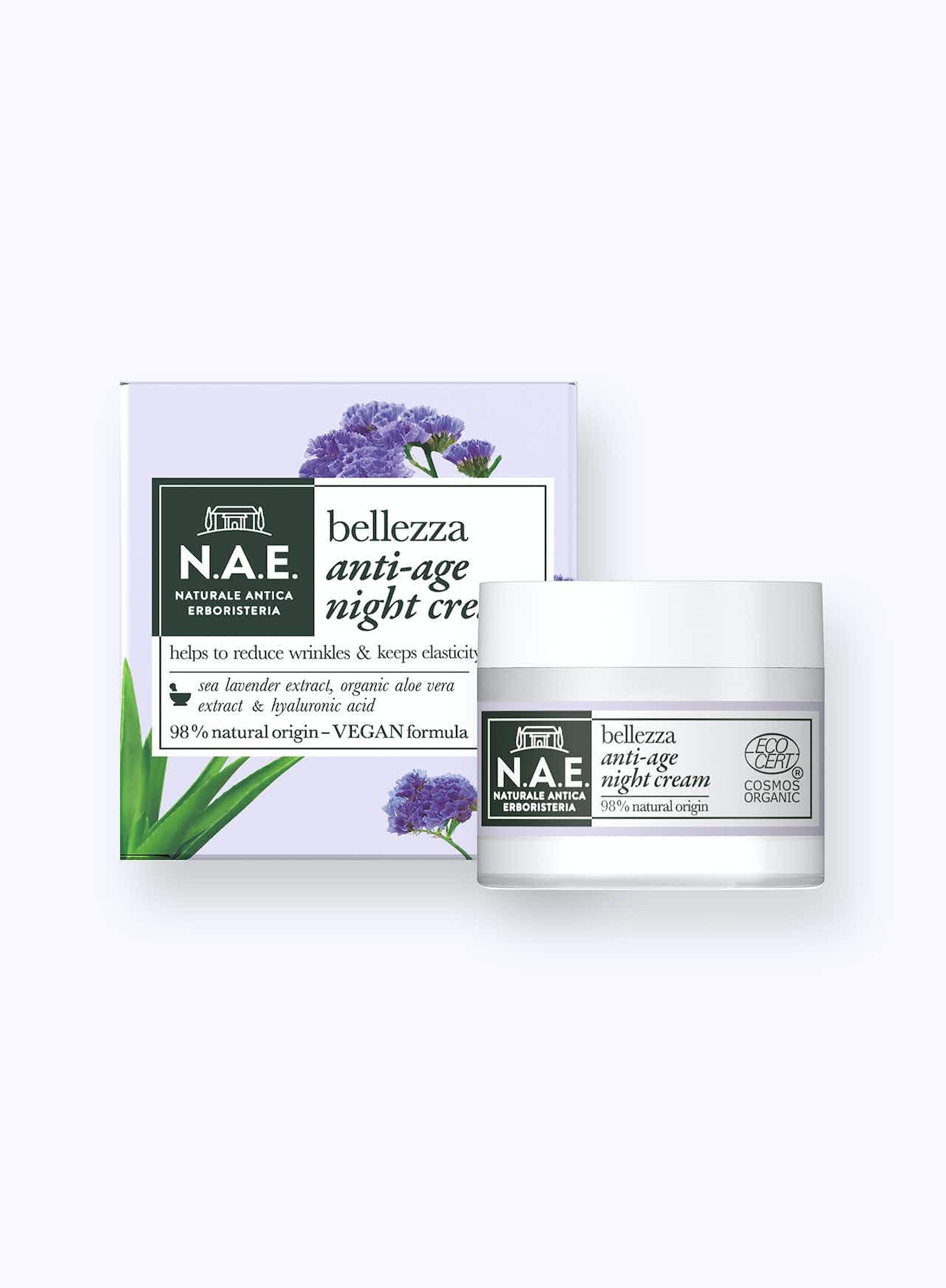 Öregedésgátló éjszakai arckrém, 50ml