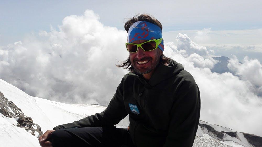 Gipfelfoto-Bergsteigen
