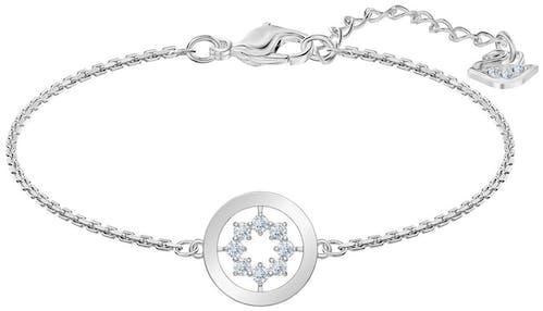 Ce Bracelet SWAROVSKI est en Métal et Cristal Blanc