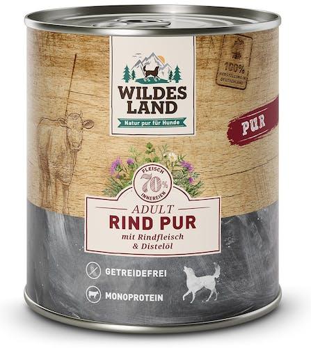 Wildes Land Nassfutter Rind Pur