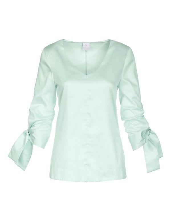 Swiss Cotton Bluse mit 3/4-Arm