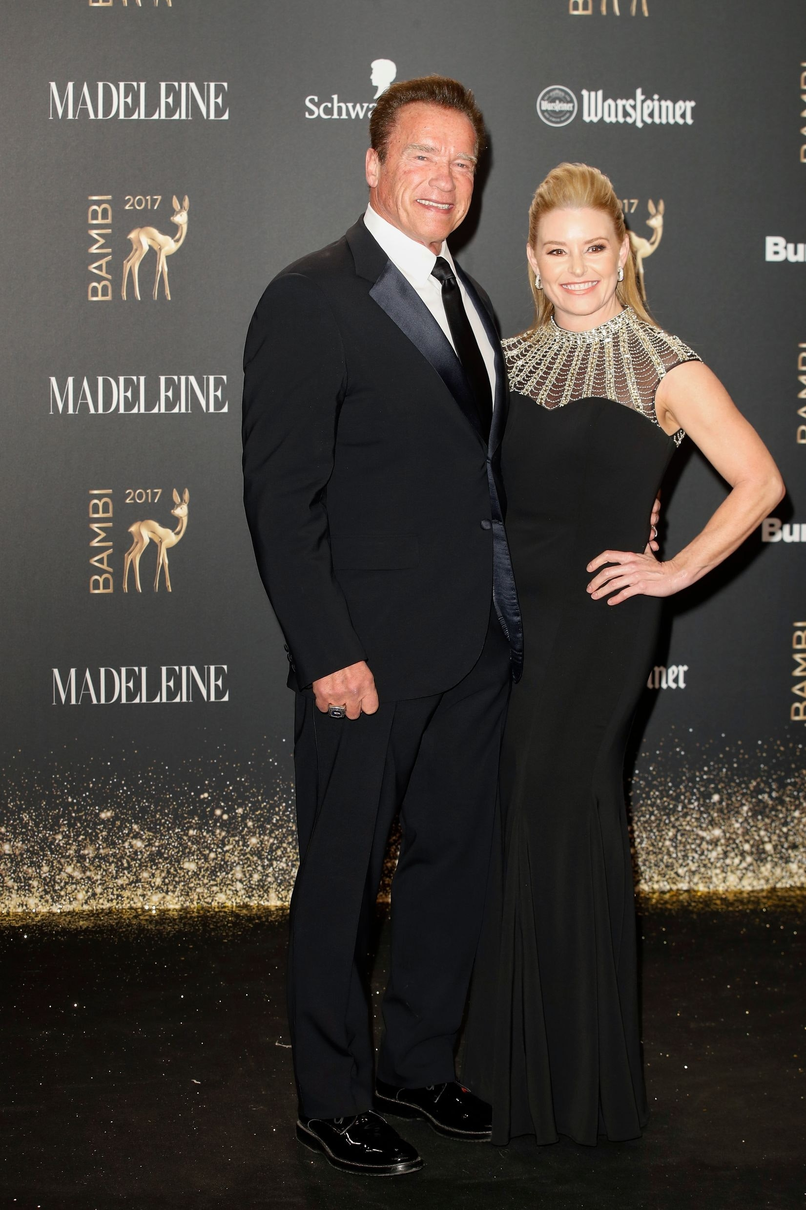 Arnold Schwarzenegger und seine Partnerin Heather Milligan. Credits: Frankziska Krug for Getty Images