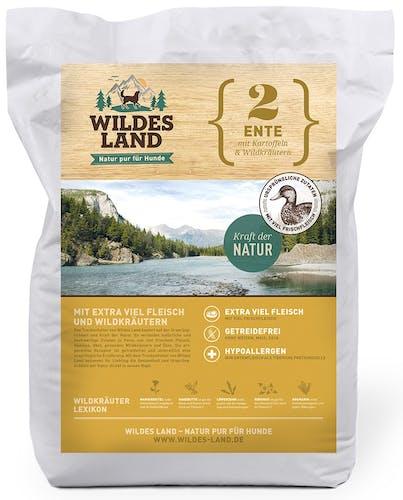 Wildes Land - Trockenfutter - Ente mit Kartoffeln und Wildkräutern (getreidefrei)