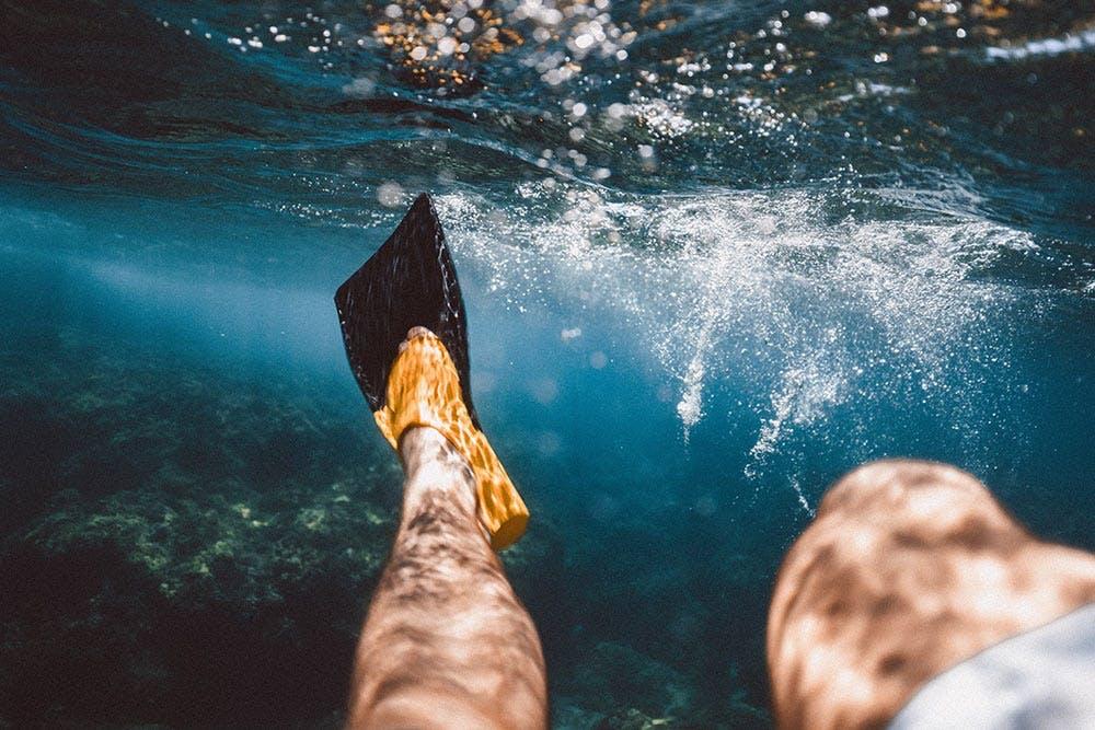 Schnorcheln unter Wasser