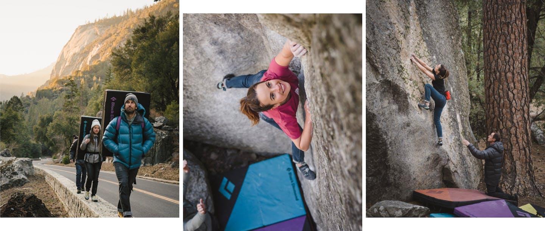collage di foto di arrampicatori