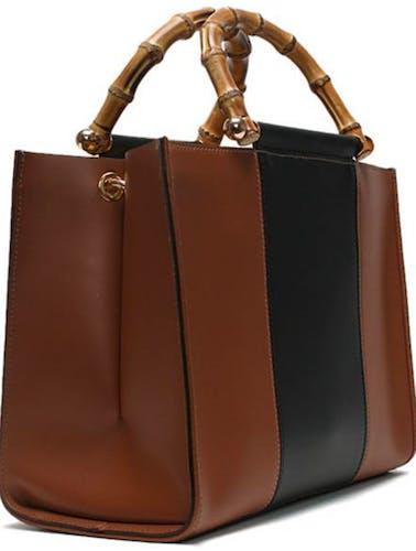 Daniel Marcher Leather Colour-Block Tote Bag