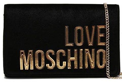 Love Moschino Small Velvet Cross-Body Bag